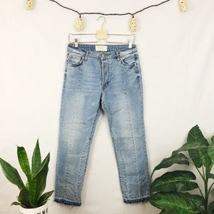 Rachel Roy Straight Ankle deconstructed jean 27